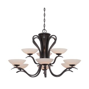 Murguia 9-Light Shaded Chandelier by Charlton Home
