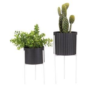 Covington 2 Piece Ceramic Plant Pot Set By Freeport Park
