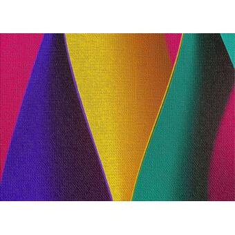 Zoomie Kids Ainsley Soft 3d Wavy Rainbow Area Rug Reviews Wayfair