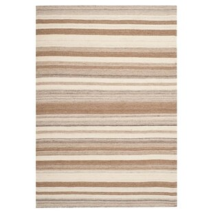 Great Price Dhurries Wool Natural/Camel Area Rug by Safavieh