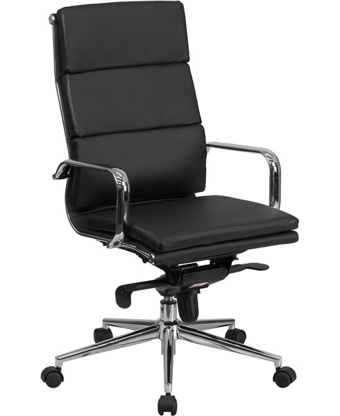 Wade Logan High Back Leather Desk Chair U0026 Reviews | Wayfair