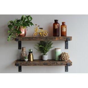 Cicero Chunky Wide Plank Wall Shelf (Set of 2)