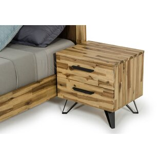 Adelle Light Wood 2 Drawer Nigthstand by Modern Rustic Interiors