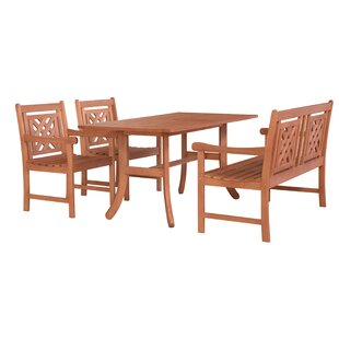 Stephenie 4 Piece Patio Dining Set