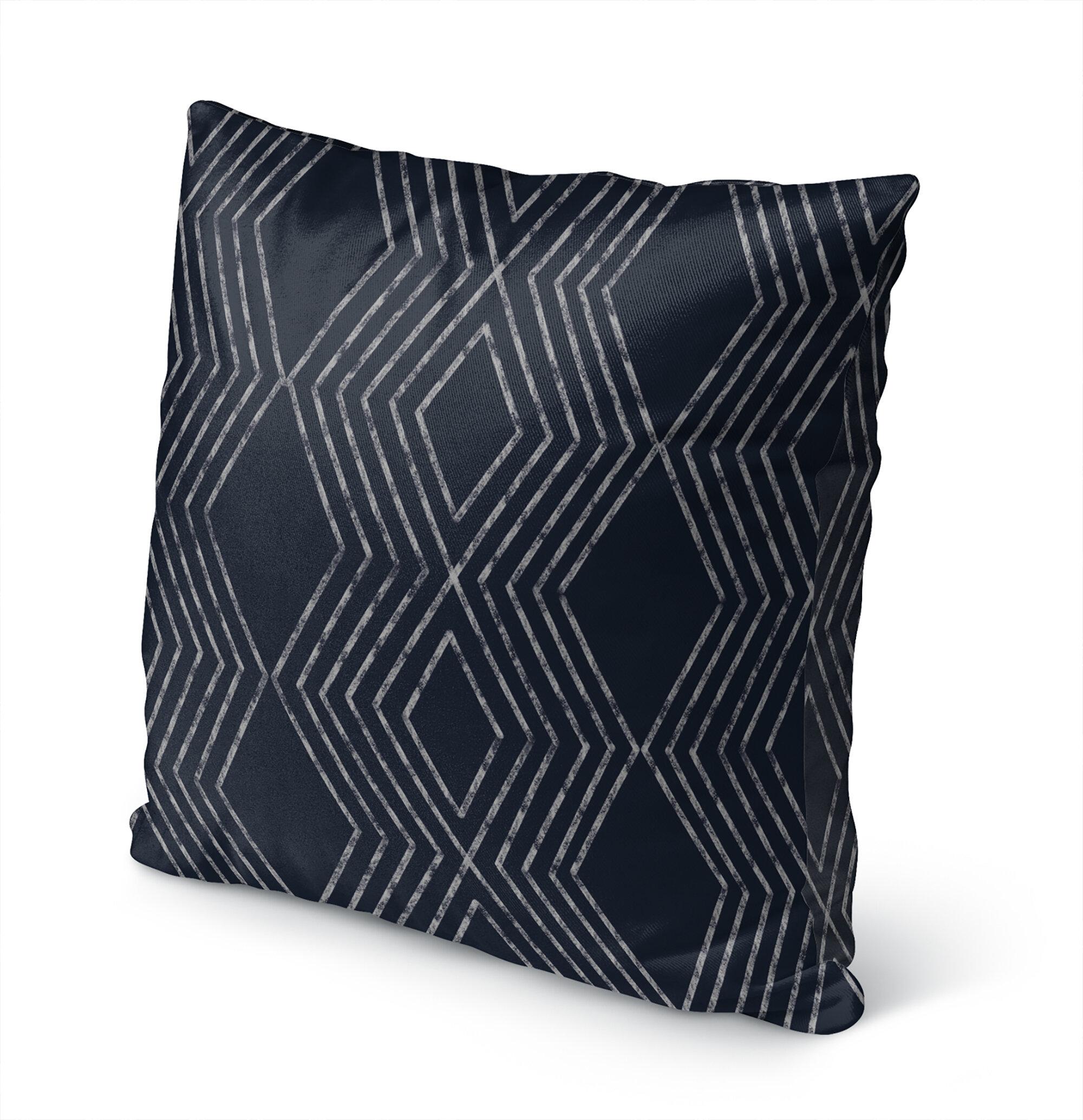 Navy Scandinavian Throw Pillows You Ll Love In 2021 Wayfair