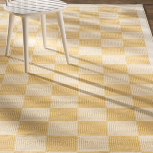 Charlotte Gold/Ivory Indoor/Outdoor Area Rug