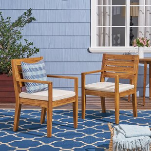 Cambon Patio Dining Chair with Cushion (Set of 2)