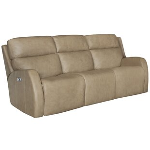 Aaron Leather Reclining Sofa by Bernhardt