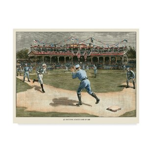 'National League Game 1886' Print on Wrapped Canvas by Charlton Home