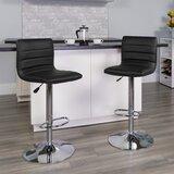 Ben Swivel Adjustable Height Bar Stool (Set of 2) by Wrought Studio™