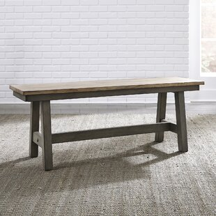 Kruger Backless Wood Bench by Gracie Oaks