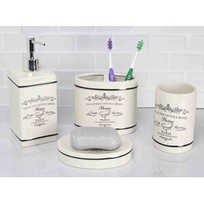 Paris 4 Piece Bathroom Accessory Set