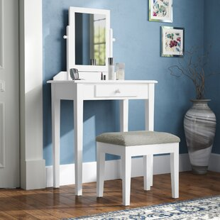 Asuncion Vanity Set with Mirror by Charlton Home