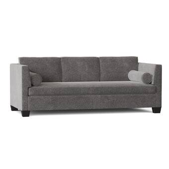 17 Stories Diep Genuine Leather 94 Pillow Top Arm Sofa Wayfair