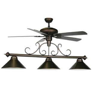 RAM Game Room 3-Light Billiard Light with Ceiling Fan