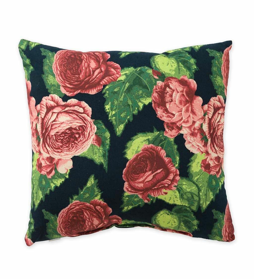 Plow Hearth Cabbage Rose Indoor Outdoor Throw Pillow Wayfair