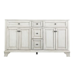 Best Corsicana 61.13 Double Bathroom Vanity Base Only By Hazelwood Home