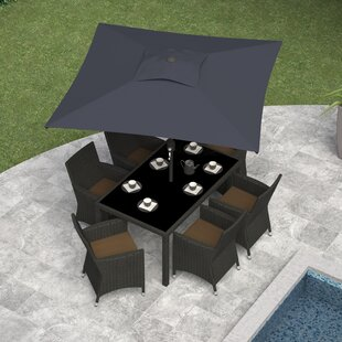 dCOR design Corliving 6.5' Square Market Umbrella