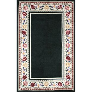 Look for Bucks County Black/Ivory Border Area Rug By American Home Rug Co.