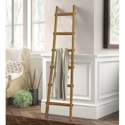 Lianes Blanket Ladder August Grove� Color: Brown, Size: 71