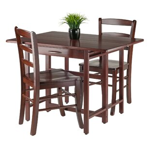 Culley 3 Piece Drop Leaf Dining Set Red Barrel Studio