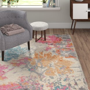 Georgina Grey/Orange/Pink Area Rug by Castleton Home