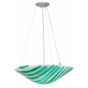 La Spiaggia Fused Glass 2-Light Bowl Pendant by Meyda Tiffany