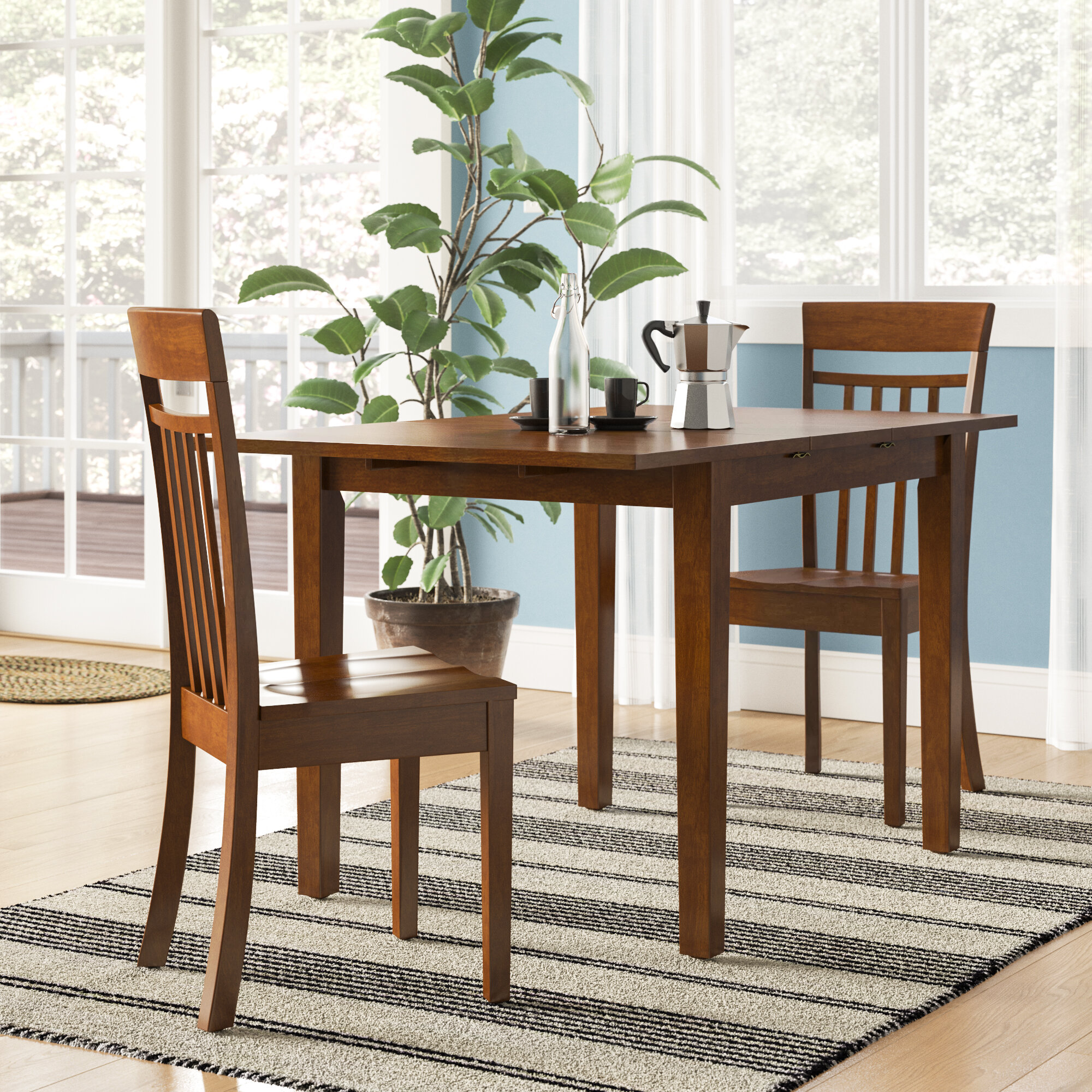 Andover Mills Antonio Butterfly Leaf Solid Wood Breakfast Nook Dining Set Reviews Wayfair