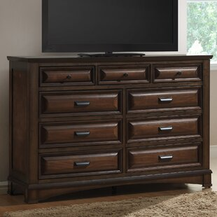 North Adams 9 Drawer Dresser with Mirror