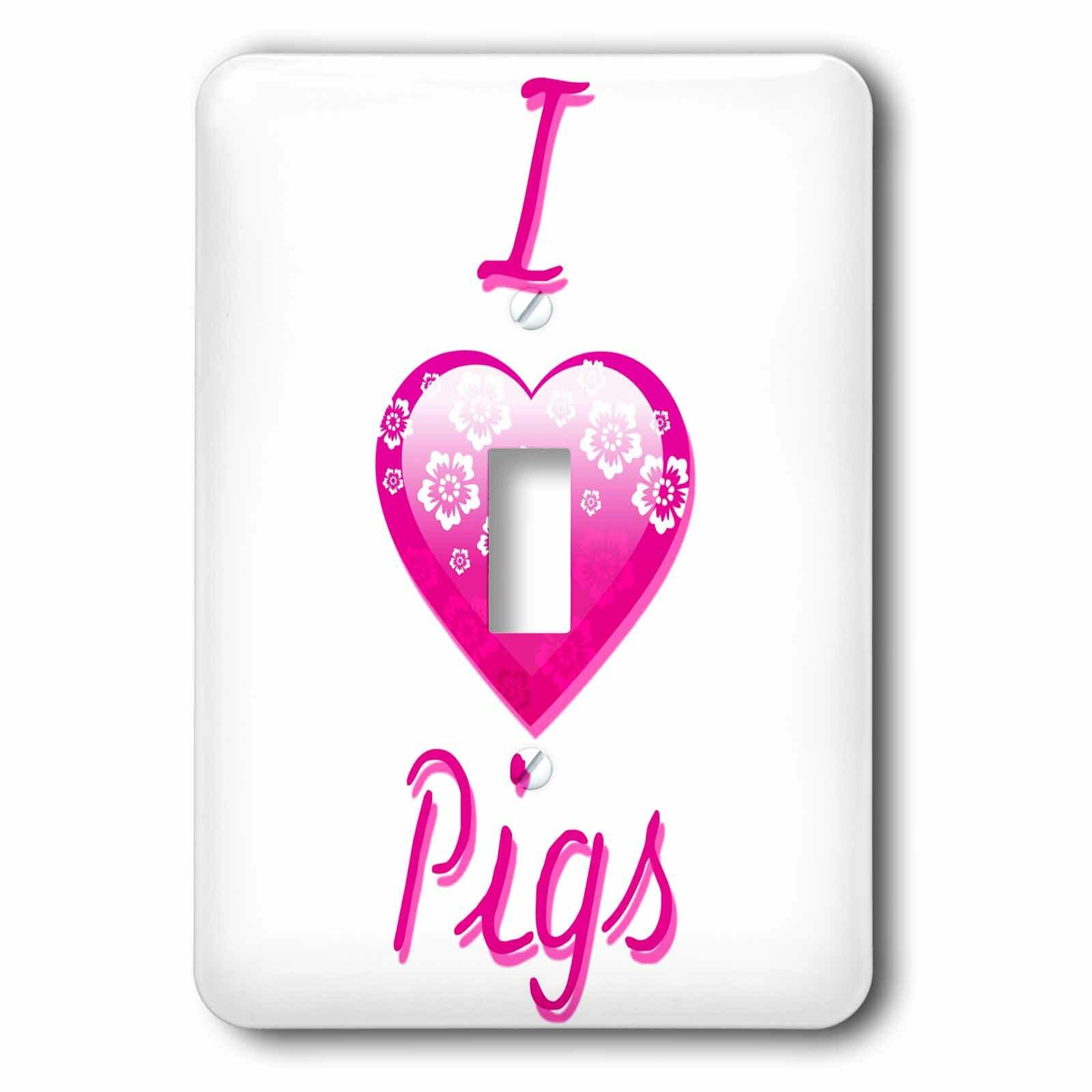 3drose I Love Pigs 1 Gang Toggle Light Switch Wall Plate Wayfair
