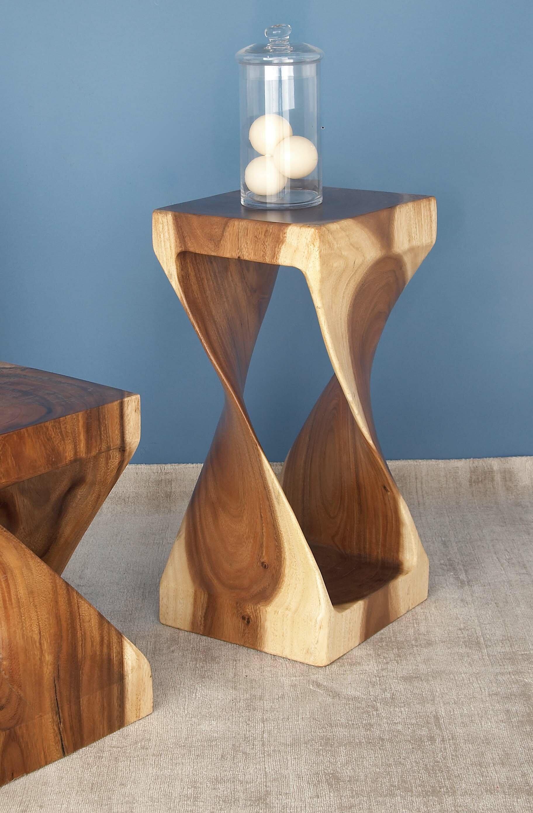Cole & Grey Suar Wood End Table & Reviews | Wayfair