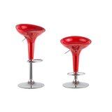 Culberson Adjustable Height Swivel Bar Stool (Set of 2) by Orren Ellis