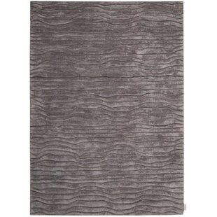 Canyon Hand-Knotted Gray Area Rug by Calvin Klein