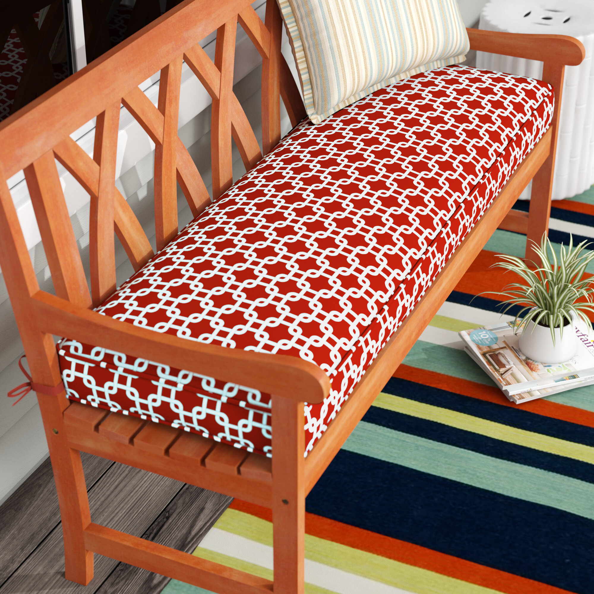 Cushion Benches Wade Bench Cushion Pottery Barnjardine Bench Cushion