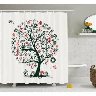 Neven Tree Ornaments Gifts Shower Curtain + Hooks