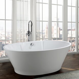Lecce 67 inch  x 38 inch  Freestanding Soaking Bathtub