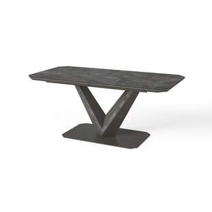 Dusek Ceramic Extendable Dining Table By Ebern Designs