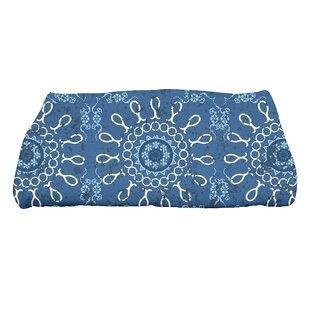Soluri Sun Tile Geometric Print Bath Towel