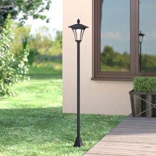 Best Price Croley Solar Powered Vintage 1-Light LED 65 Post Light By Darby Home Co