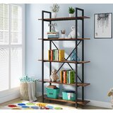 Zilla 70'' H x 39.4'' W Steel Etagere Bookcase by 17 Stories