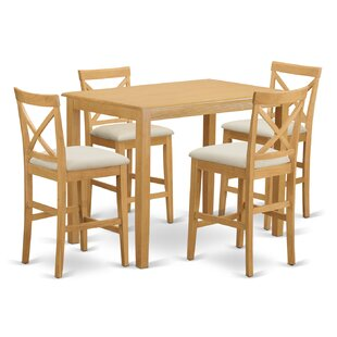Yarmouth 36 5 Piece Pub Table Set East West Furniture
