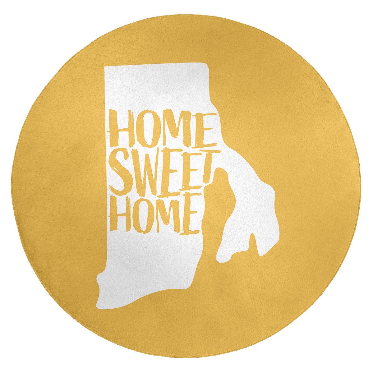 East Urban Home Home Sweet Rhode Island Poly Chenille Rug Wayfair