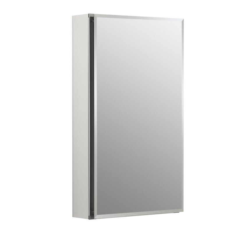 15 X 26 Aluminum Single Door Medicine Cabinet