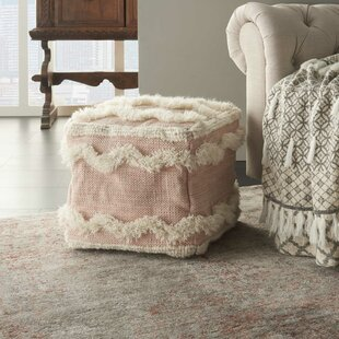 Senters Textured Chevron Pouf by Bungalow Rose
