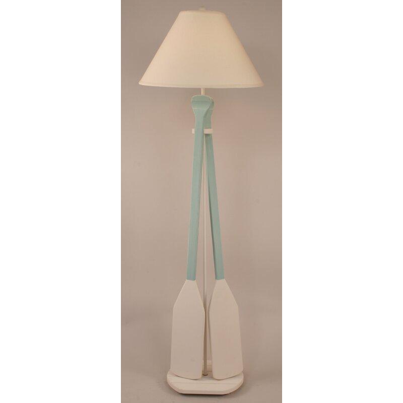 """Coastal Living 2 Paddle 62"""" Floor Lamp"""