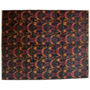 Online Reviews One-of-a-Kind Ikat Hand-Knotted Multicolor Area Rug By Darya Rugs