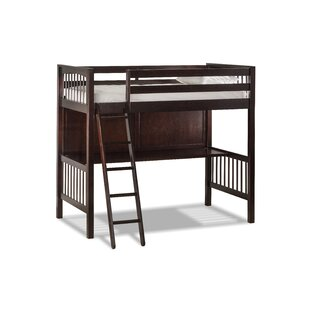 Reviews Amethy Loft Bed with Hanging Nightstand - Twin ByHarriet Bee