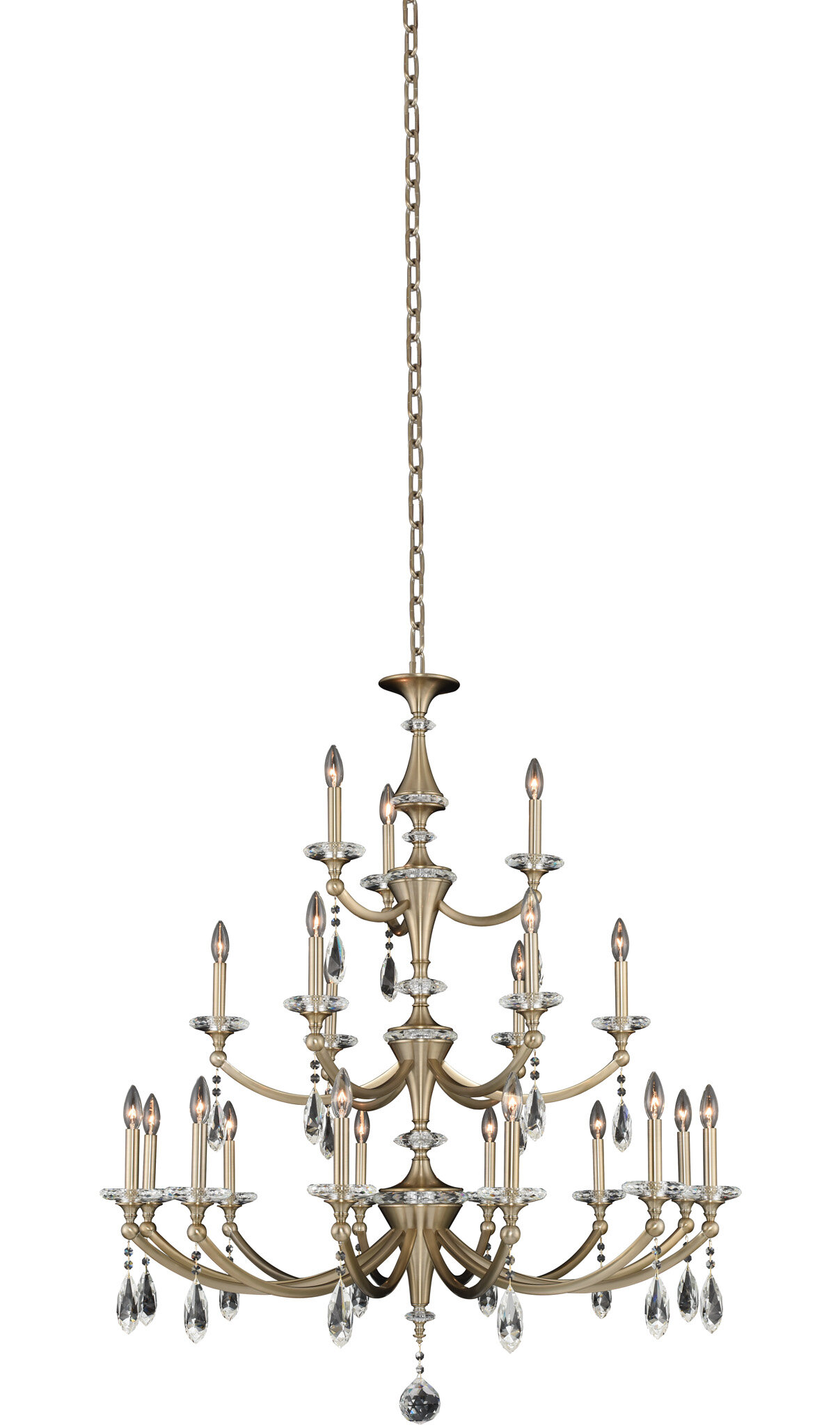 Rosdorf Park Beacon 21 Light Candle Style Classic Chandelier With Crystal Accents Wayfair