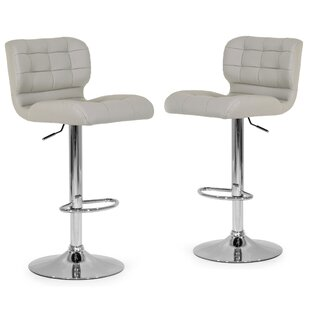 Price Check Adjustable Height Swivel Swivel Bar Stools (Set of 2) by Glamour Home Decor