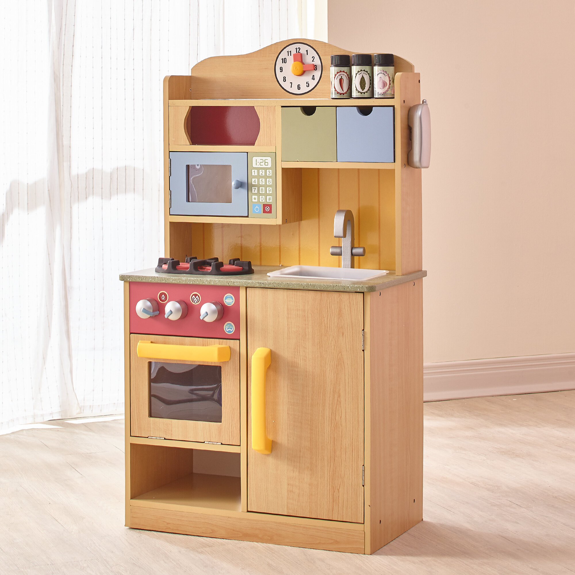 Teamson Kids 5 Piece Little Chef Wooden Play Kitchen Set Reviews